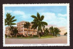 FL View Miramar Hotel MIAMI FLORIDA Postcard PC