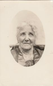 Portrait of an old woman 1925 hungarian type photo postcard