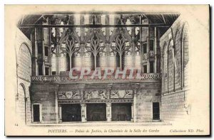 Old Postcard Chimney Poitiers the Palace of Justice in the guard room