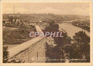 Modern Postcard Namur Citadel Turret of the Watchers and Conflent Ssambre and...