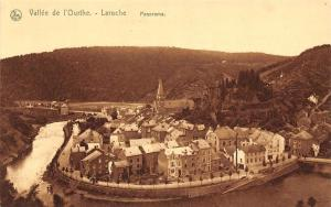 Belgium Vallee de l'Ourthe, laroche Panorama Eglise Church River General view