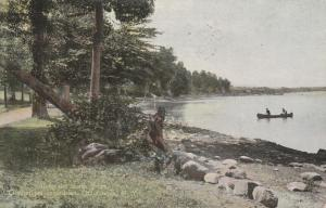 Canoe on North Shore - Chautauqua Institution NY, New York - pm 1913 - DB