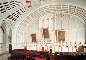Lancaster Castle Shire Hall, Bench and Large Paintings