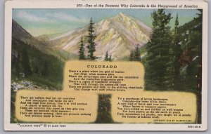 Colorado Poem, One of the reasons why Colorado is Playground of America