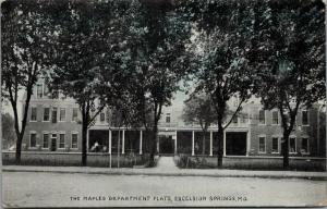Excelsior Springs Missouri~Maples Department Flats~Apartment House~1911 B&W PC