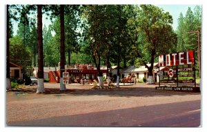 1950s/60s Welcome Motel, Grants Pass, OR Postcard *6L(2)17