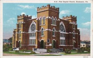 Florida Kissimmee First Baptist Church 1955