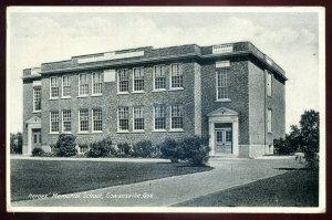 dc379 - COWANSVILLE Quebec Postcard 1941 Heroes Memorial School