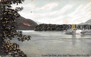 Albany Day Boat West Point, New York Postcard