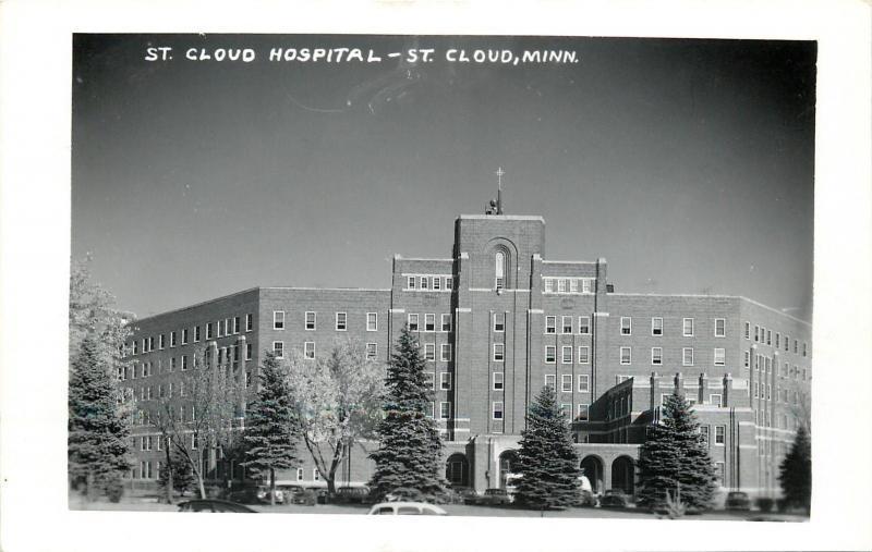 St Cloud Minnesota~St Cloud Hospital 1950 Real Photo Postcard