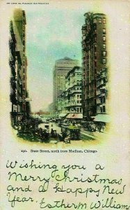 Chicago State Street North from Madison Postcard