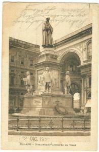 Italy, Milano, Monumento Leonardo da Vinci, 1921 used