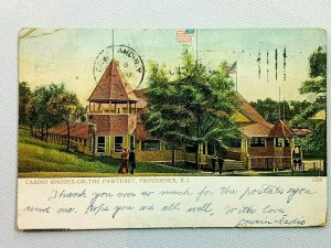 Vintage Postcard 1907 Casino Rhodes on The Pawtuxet Providence RI Rhode Island