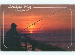 1980's FISHING SCENE Outer Banks North Carolina NC AF5536