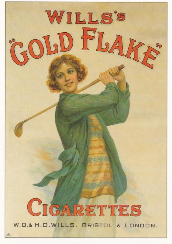 postcard Golf Series (A) Advertising Wills Gold Flake Cigarettes