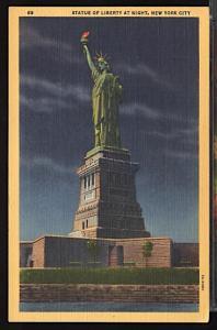 Statue of Liberty at Night New York City