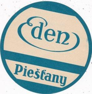 Czechoslovakia Piestany Hotel Eden Vintage Luggage Label sk4453