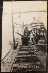 Mint Germany RPPC Real Picture Postcard Inspection Of Submarine U C7 Boat WWI