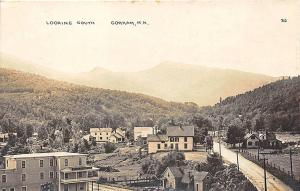 Gorham NH Looking South Houses From Glen Road RPPC Postcard
