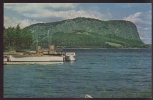 Mt Kineo MAINE Boat Moosehead Lake Ship Vintage Postcard