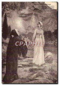 Old Postcard Vaucluse Fee Witch Folklore Fountain