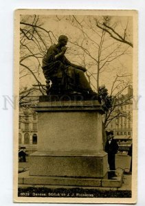 3133123 SWITZERLAND GENEVE Statue de J.J. ROUSSEAU Vintage PC