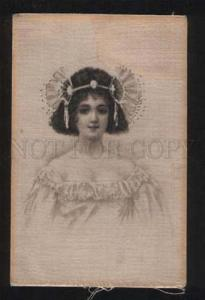 055631 Head of BELLE Style ASTI vintage Card on SILK