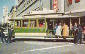 California San Francisco Cable Car On Turntable At Market