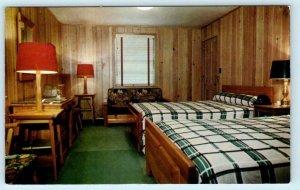 COLUMBUS, Georgia GA ~ Roadside OUTPOST INN ~ Retro Room Interior 1960s Postcard