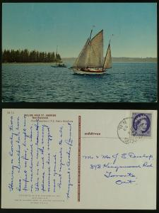 Sailing near St. Andrews NB postmarked  1959