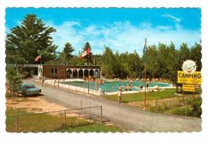 Swimming Pool, Camping, Sunshine Park, Rawdon, Quebec, Canada, 40-60´s