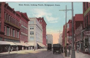 Store fronts,looking North on Main Street, Bridgeport, Connecticut,PU-1900-10s