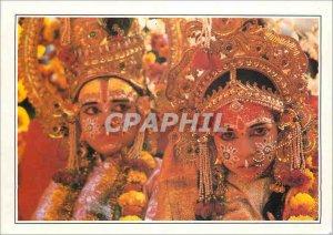 Modern Postcard Benares Evocation Ramayana India