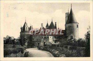 Postcard Modern Rochepot Chateau Levis Bridge