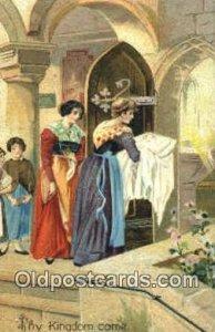 Religion Postcard Postcards Thy Kingdom Come Unused