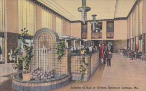 Missouri Excelsior Springs Interior Of Hall Of Waters 1944