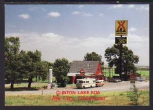Clinton Lake KOA Kampground Elk City OK Post Card 5529