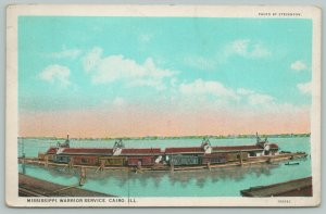 Cairo Illinois~Mississippi Warrior Service~Federal Barge Line Terminal~1928 PC