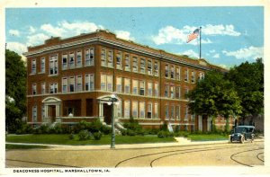 Marshalltown, Iowa - The Deaconess Hospital - in 1921