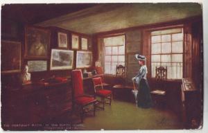 P429 JL 1906 stamped tucks postcard the portrait room in the birth