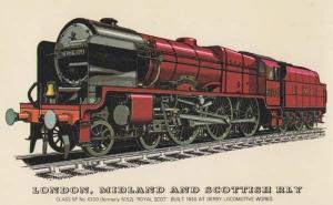London Midland & Scottish Railway Royal Scot Class 6P Derby Locomotive Postcard