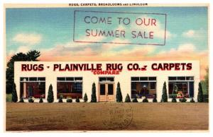 Connecticut  Plainville  Rug Company Advertising Card