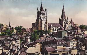 RP, Panorama, La Cathedrale, Lausanne Vaud, Switzerland, 1920-1940s