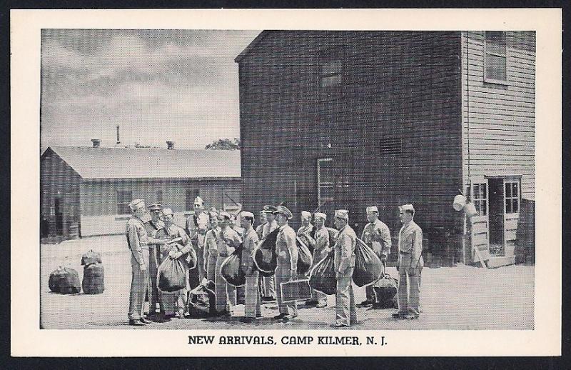 New Arrivals Camp Kilmer New Jersey unused c1942