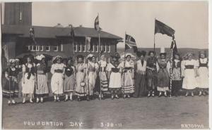 Washington WA Real Photo RPPC Postcard 1911 PULLMAN Foundation Day Costumes