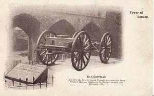 Gun carriage Tower of London early postcard