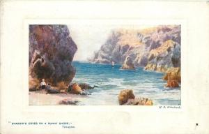 England~Kynance Cove~Steeple Rock~TUCK Plate-Marked #9723~Artist HB Wimbush