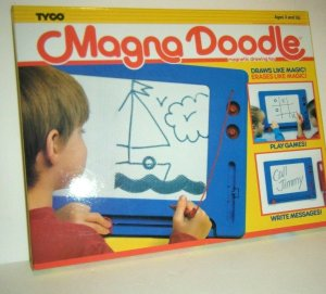 Vintage Tyco 1990 Magna Doodle Magnetic Drawing Toy Board Friends TV Show NEW