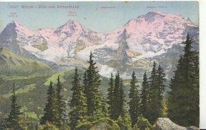 Switzerland Postcard - Murren - Blick Vom Allmendhubel - Ref TZ7636