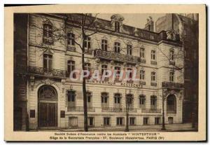 Old Postcard Winterthur Insurance 57 Boulevard Malesherbes Paris 8th